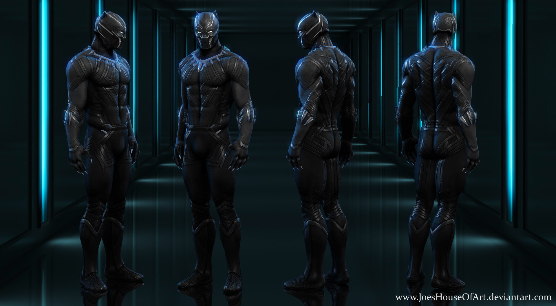 Black Panther Civil War MH for XNALara / XPS